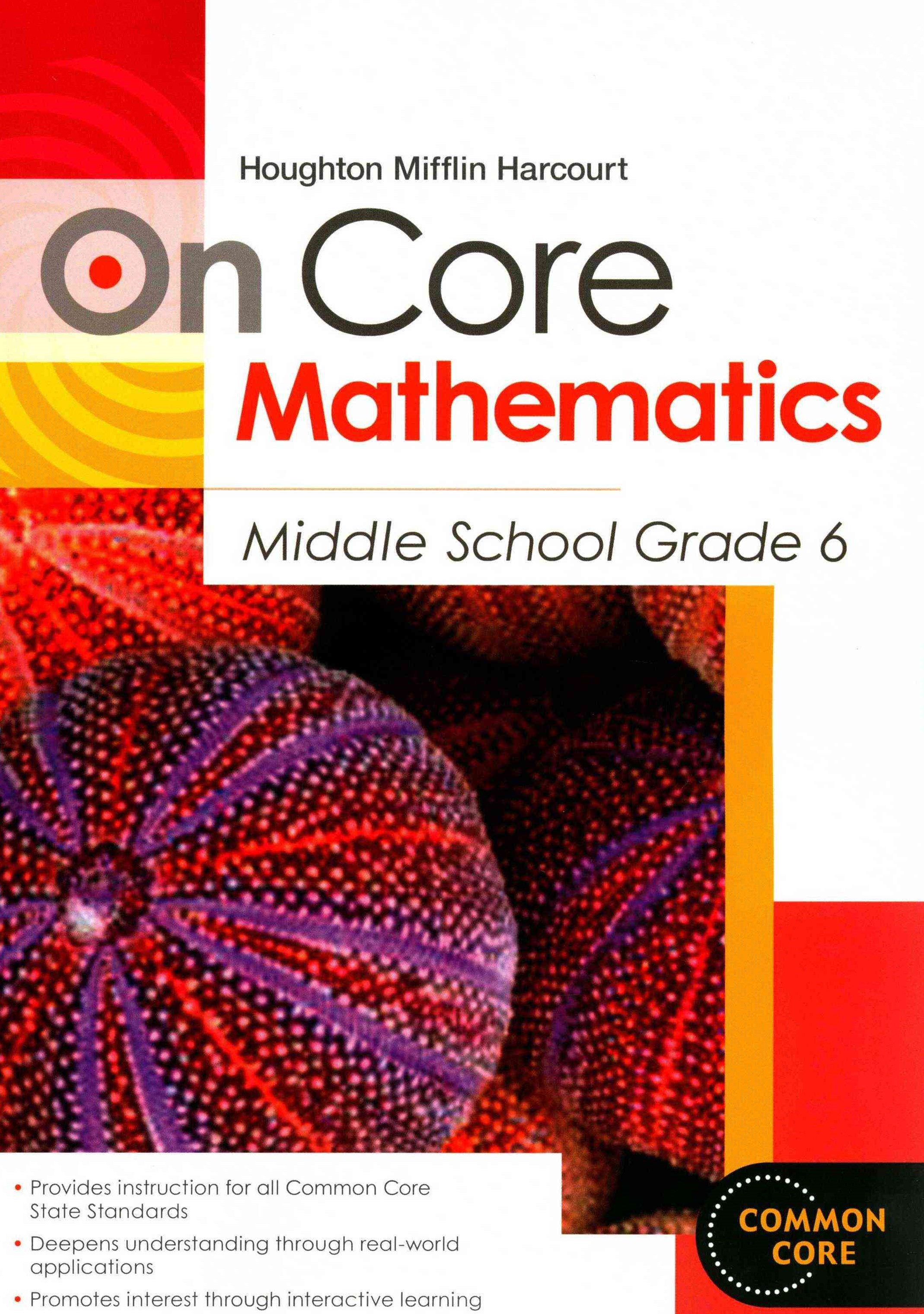 Holt McDougal Middle School Math Oncore