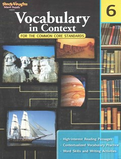 School Supply Vocabulary in Context Workbook Grade 6