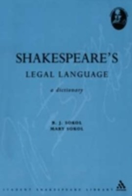 (ebook) Shakespeare's Legal Language