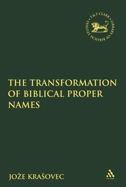 Transformation of Biblical Proper Names