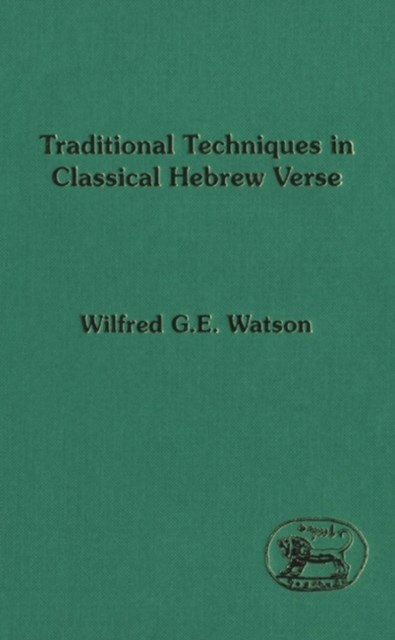 (ebook) Traditional Techniques in Classical Hebrew Verse