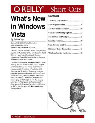 (ebook) What's New in Windows Vista?