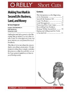 (ebook) Making Your Mark in Second Life: Business, Land, and Money - Computing Game Design