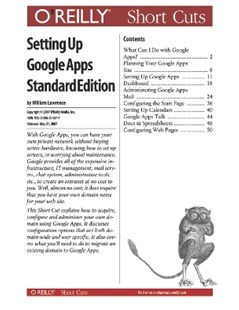 (ebook) Setting Up Google Apps Standard Edition - Computing Internet