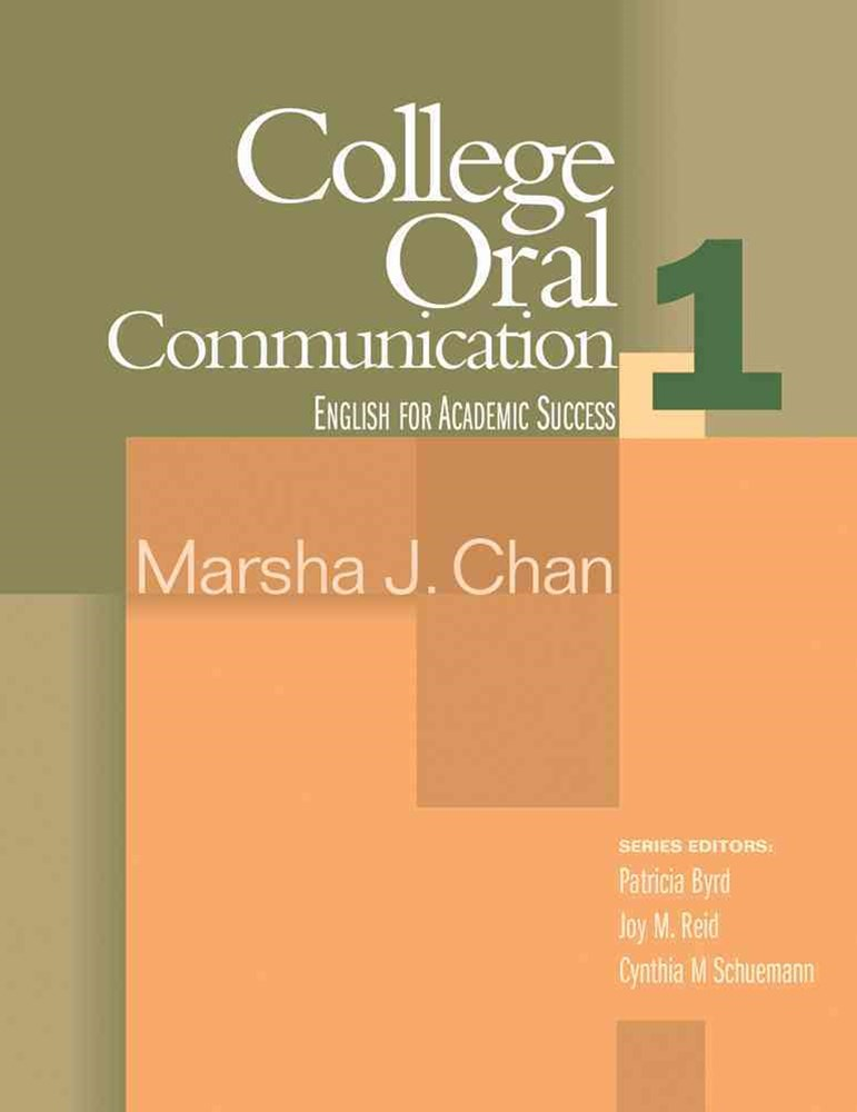 College Oral Communication 1 : English for Academic Success