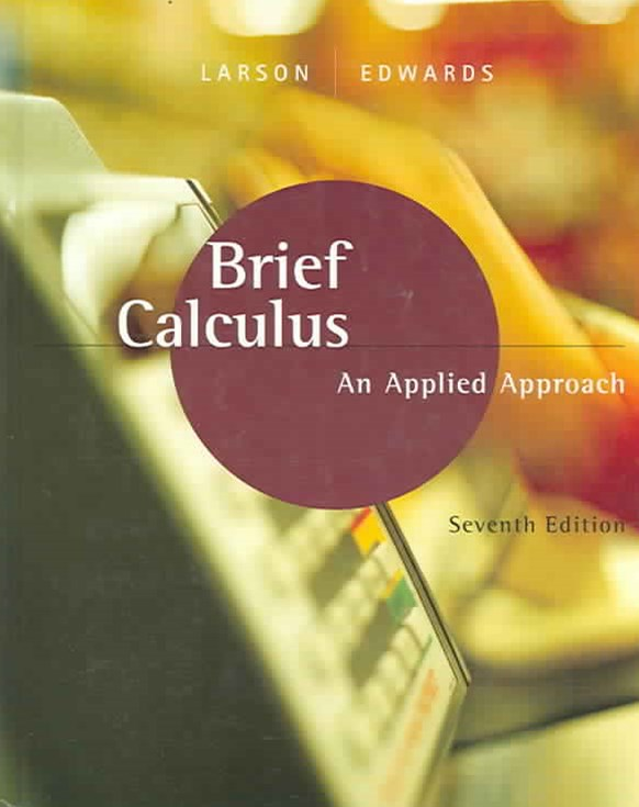 Brief Calculus : An Applied Approach