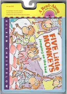 Five Little Monkeys Jumping on the Bed Book & Cd by CHRISTELOW EILEEN (9780618732760) - PaperBack - Non-Fiction Animals