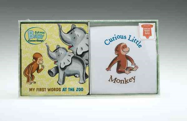 Curious Baby My First Words at the Zoo Gift Set (curious George Book & T-shirt)