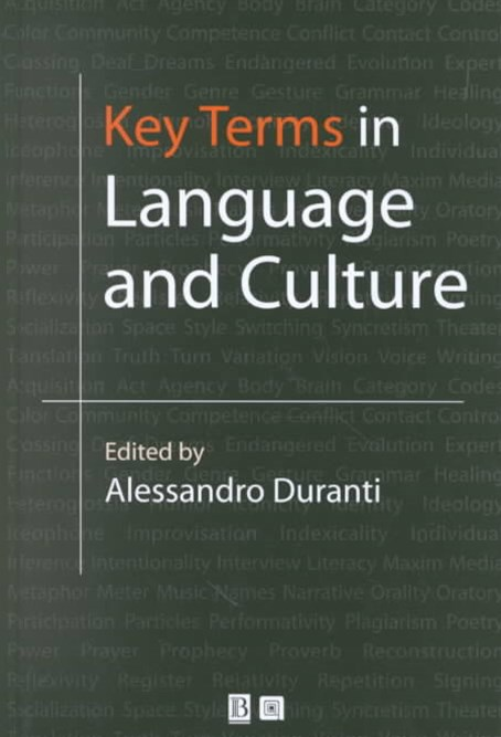 Key Terms in Language & Culture
