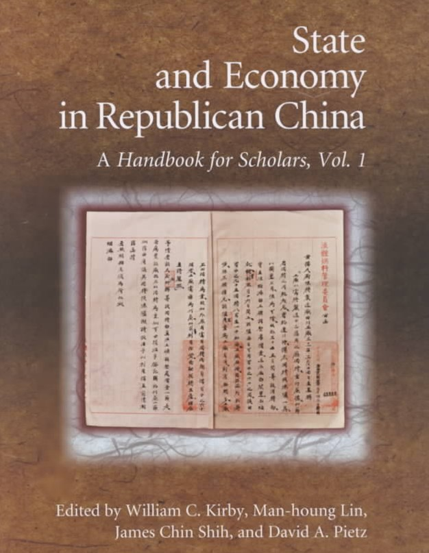 State and Economy in Republican China