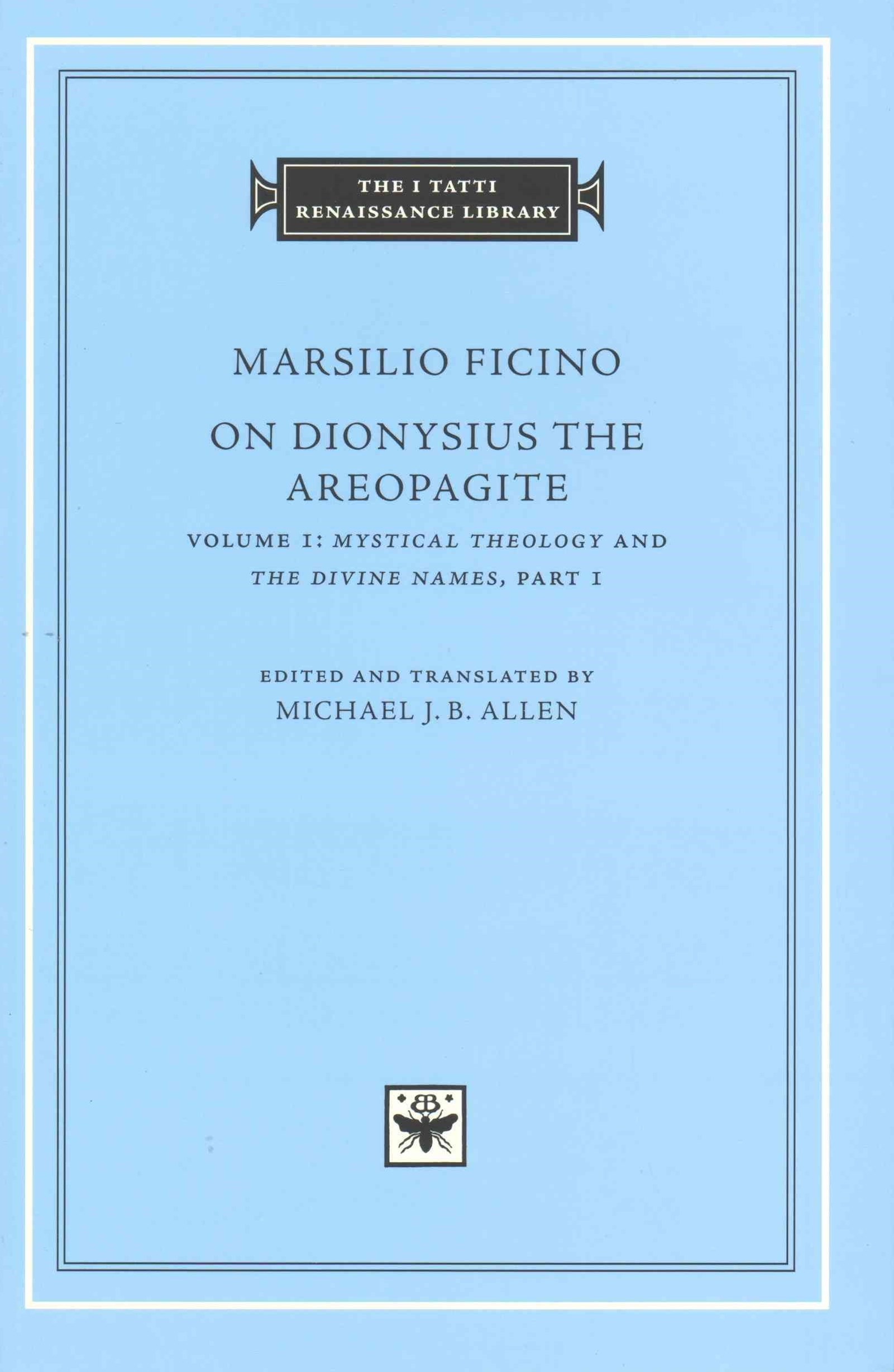 On Dionysius the Areopagite, Volume 1