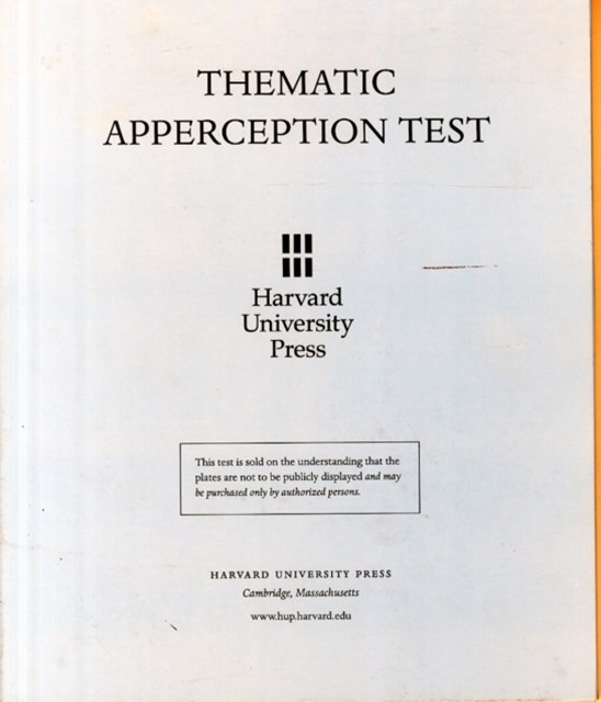Thematic Apperception Test: Student Manual with cards