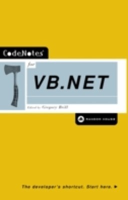 (ebook) CodeNotes for VB.NET