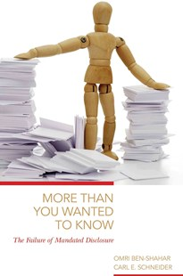 More Than You Wanted to Know by Omri Ben-Shahar, Carl E. Schneider (9780691170886) - PaperBack - Education Teaching Guides