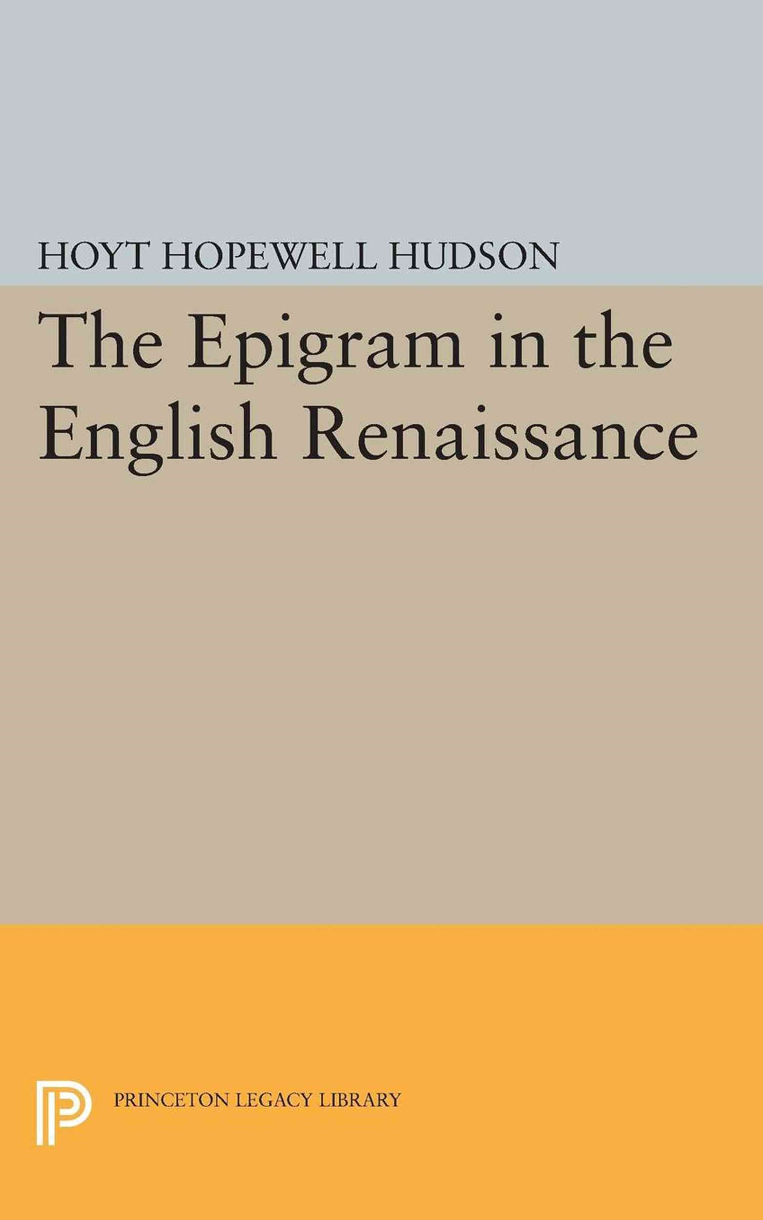 Epigram in the English Renaissance