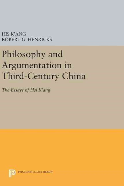 Philosophy and Argumentation in Third-Century China