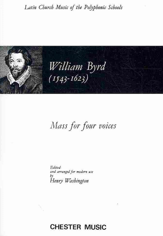Byrd, W Mass for 4 Voices SATB VSc