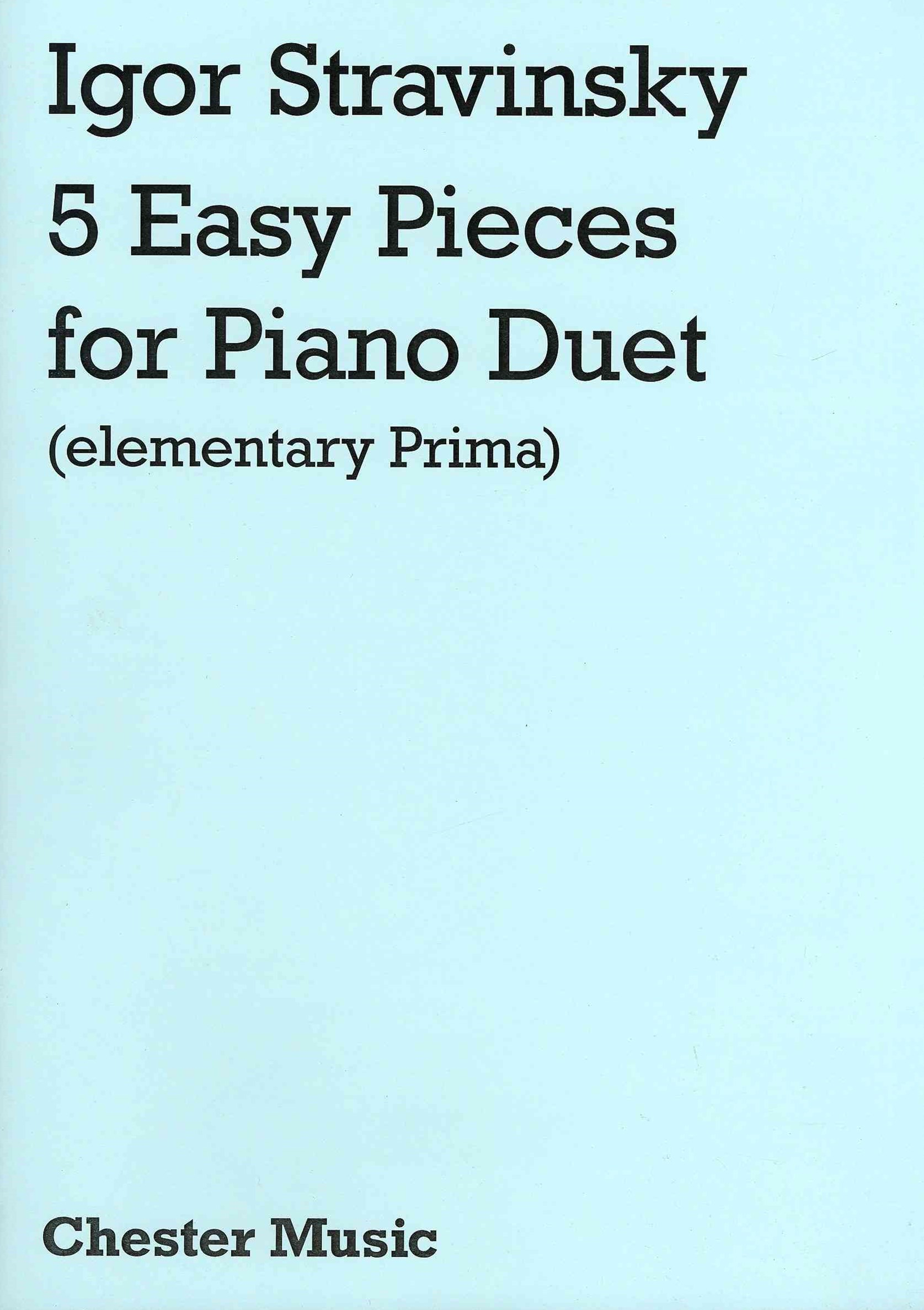 5 Easy Pieces for Piano Duet