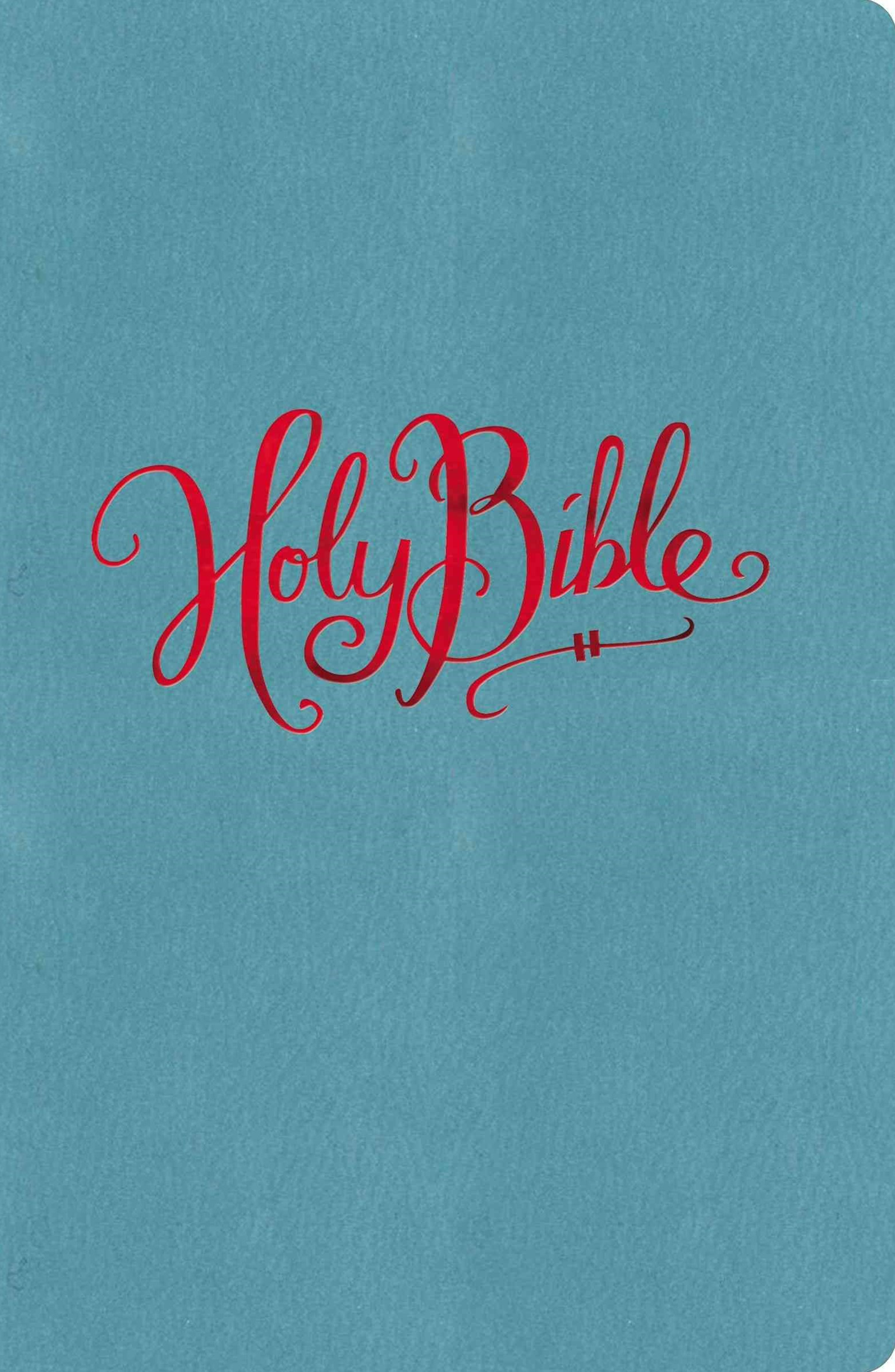 NKJV, Reference Bible, Compact, Large Print, Imitation Leather, Turquoise, Red Letter Edition: Large Print, Compact