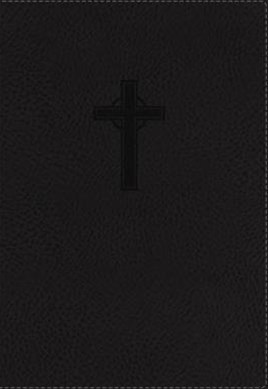NKJV Reference Bible, Compact, Large Print, Red Letter Edition [Black]