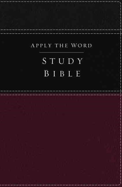 NKJV Apply the Word Study Bible [Deep Rose/Black]
