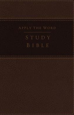 NKJV Apply The Word Study Bible, Large Print, Red Letter Edition: Live In His Steps [Earth Brown]