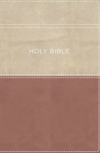 KJV, Apply the Word Study Bible, Large Print, Imitation Leather, Pink/Cream, Indexed, Red Letter Ed