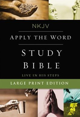 NKJV, Apply The Word Study Bible, Large Print, Red Letter Edition: Live In His Steps