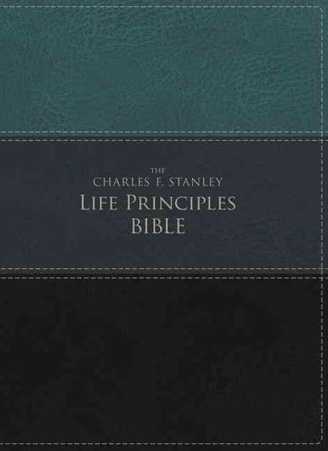 NIV The Charles F. Stanley Life Principles Bible [Green/Black]