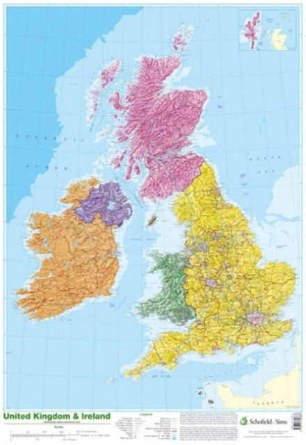 Map of UK and Ireland