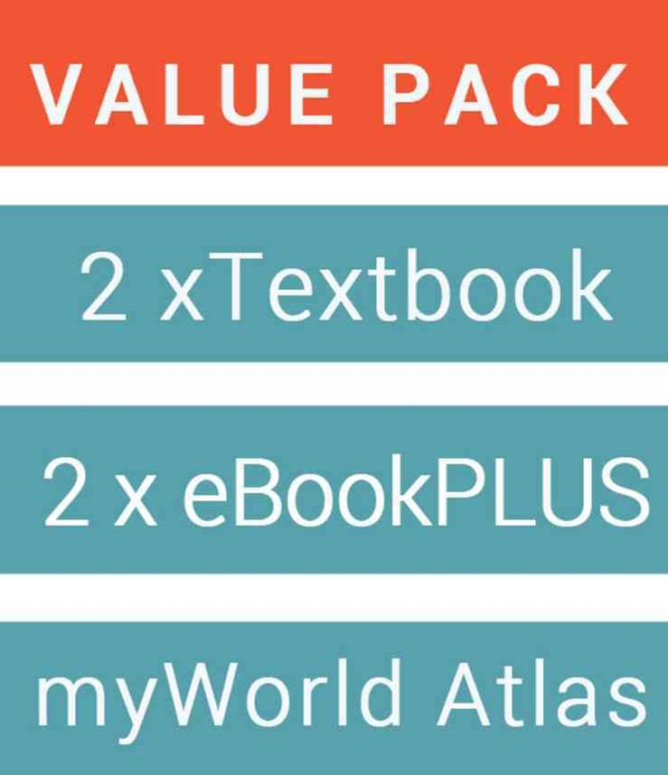 Geography Alive 9 for the Australian Curriculum & eBookPLUS + Retroactive 9 Australian Curriculum for History & eBookPLUS + Jacaranda Myworld Atlas