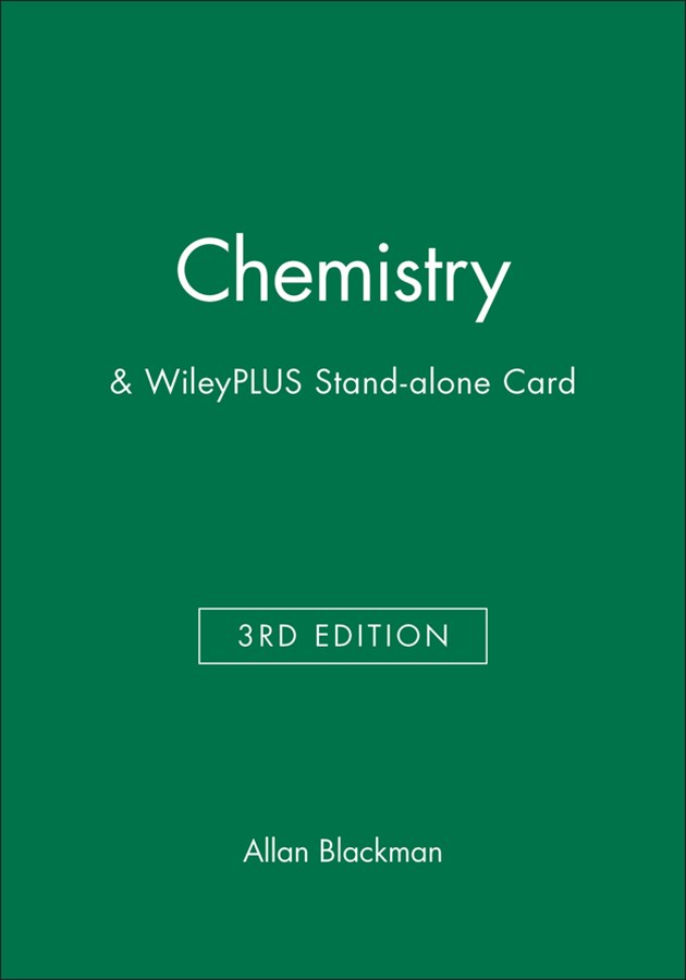 Chemistry 3E+wileyplus Stand-alone Card