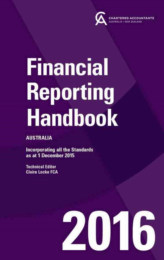 Financial Reporting Handbook 2016 Australia+financial Reporting Handbook 2016 Australia Wiley E-text Card