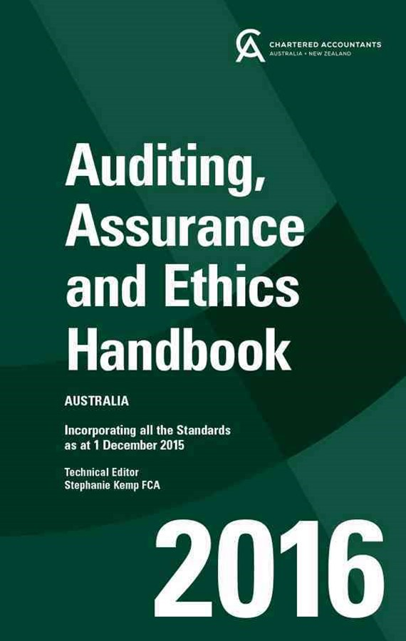 Auditing, Assurance and Ethics Handbook 2016 Australia+auditing, Assurance and Ethics Handbook 2016 Australia E-text Card