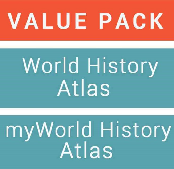 Jacaranda World History Atlas + Jacaranda Myworld History Atlas (Registration Card) Value Pack