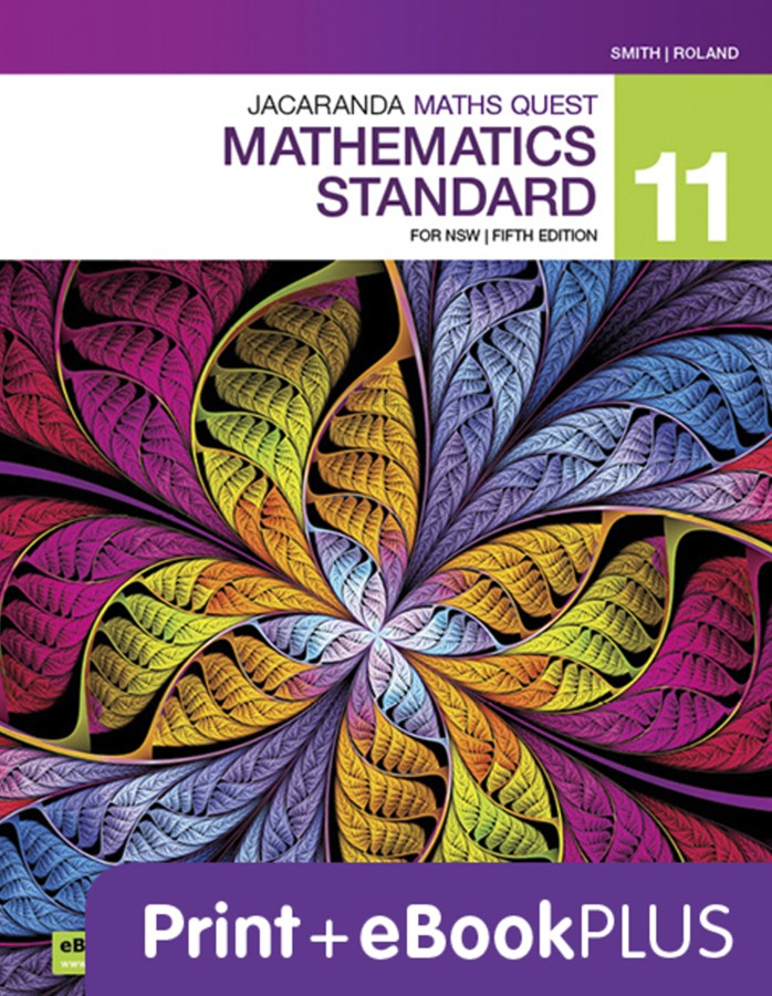 Jacaranda Maths Quest 11 Mathematics Standard 5E eBookPLUS & Print