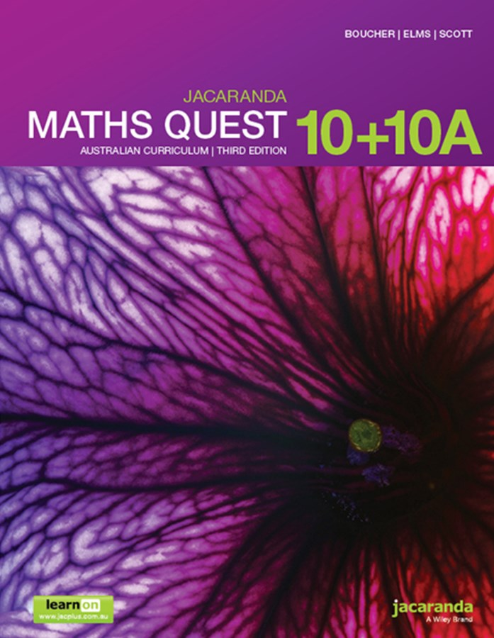 Jacaranda Maths Quest 10+10a Australian Curriculum3e LearnON & Print
