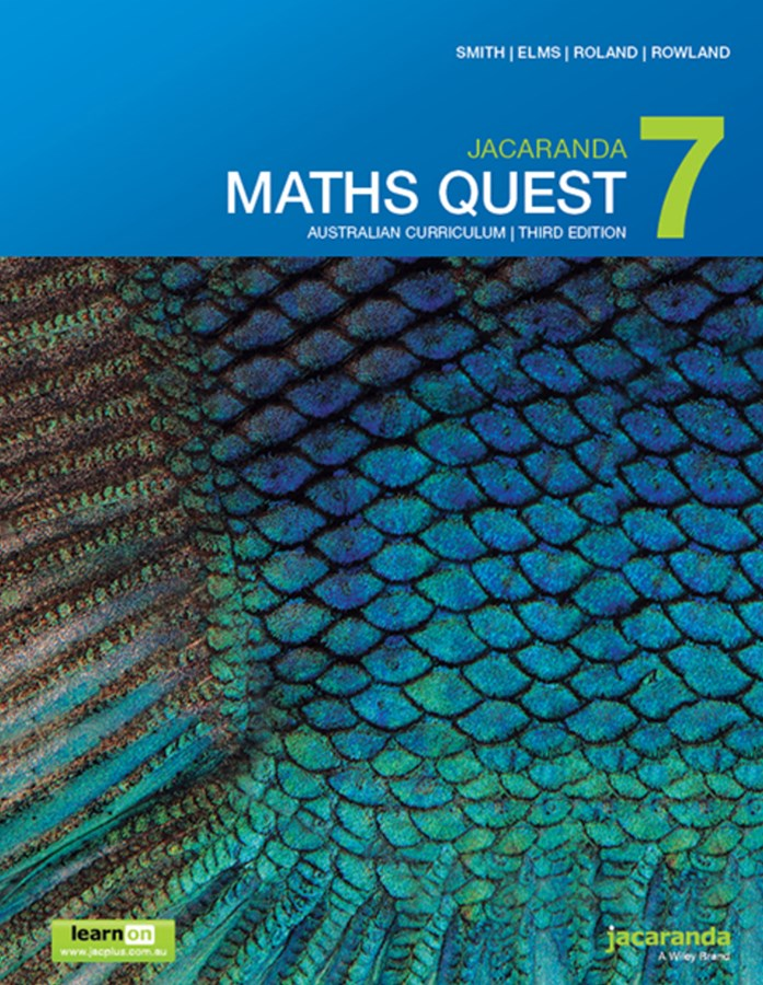 Jacaranda Maths Quest 7 Australian Curriculum 3E LearnON & Print