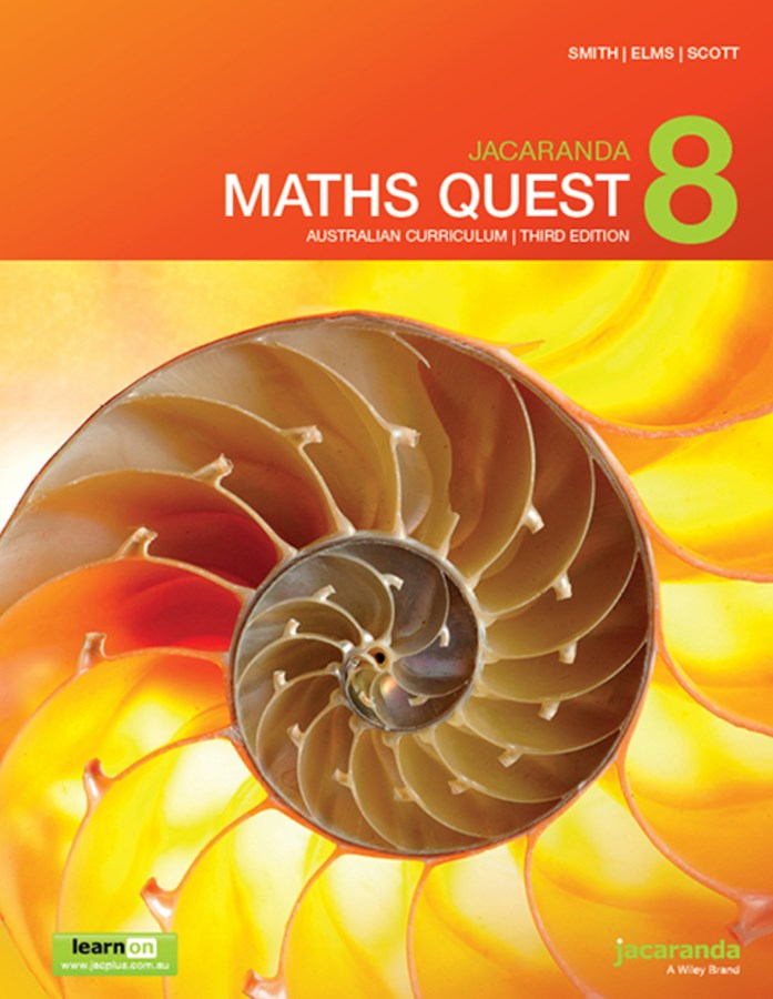 Jacaranda Maths Quest 8 Australian Curriculum 3E LearnON & Print