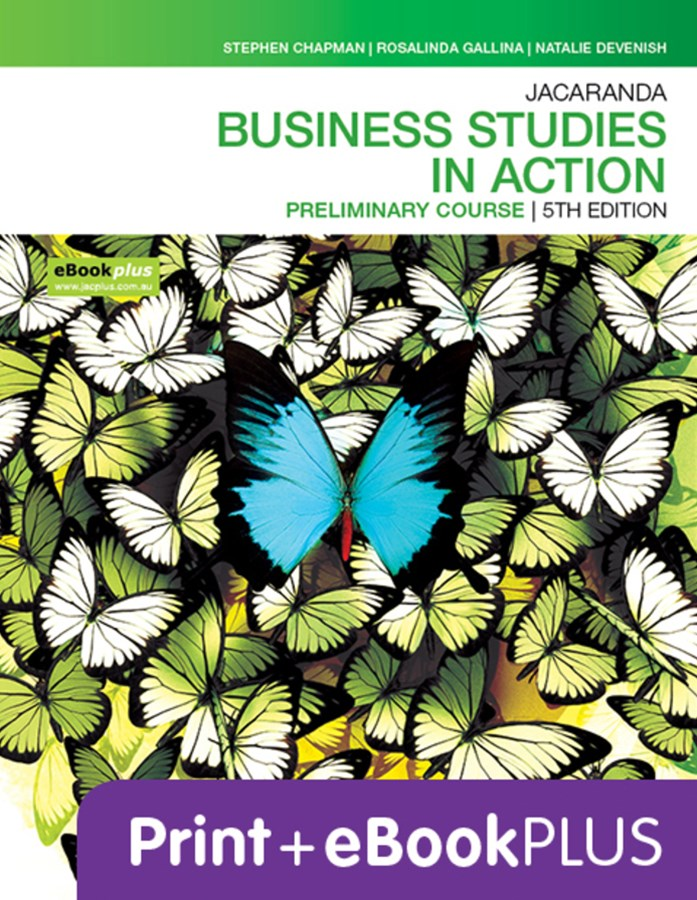 Jacaranda Business Studies in Action Preliminary Course 5E eBookPLUS & Print