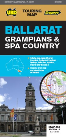 BALLARAT GRAMPIANS & SPA COUNTRY MAP 382
