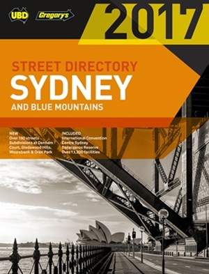 Sydney & Blue Mountains Street Directory 2017