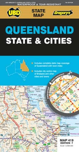 QLD STATE & CITIES MAP 419 7ED UBD