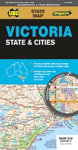 VICTORIA STATE & CITIES MAP 319 7ED UBD