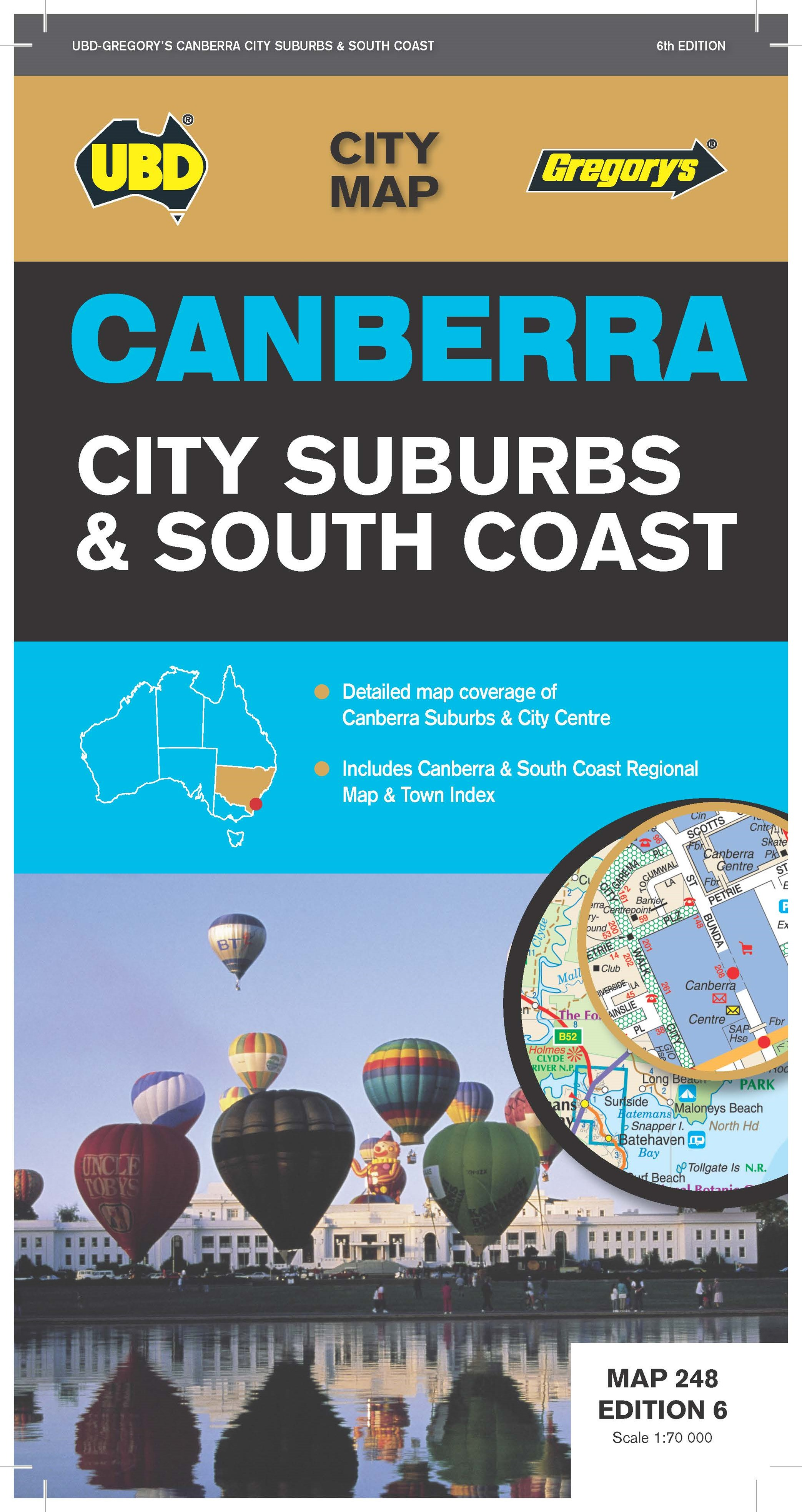 CANBERRA CITY & SUBURBS MAP 248 6ED UBD