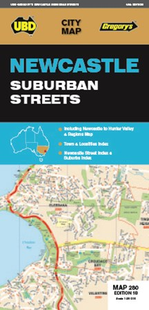 Newcastle Suburban Streets Map 280 18th
