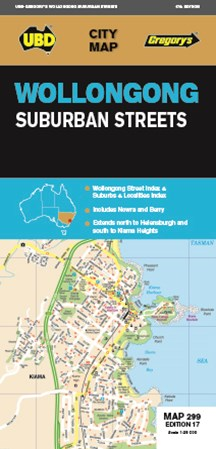 Wollongong Suburban Streets Map 299 17th