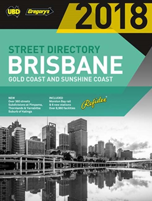 Brisbane Refidex Street Directory 2018  62nd