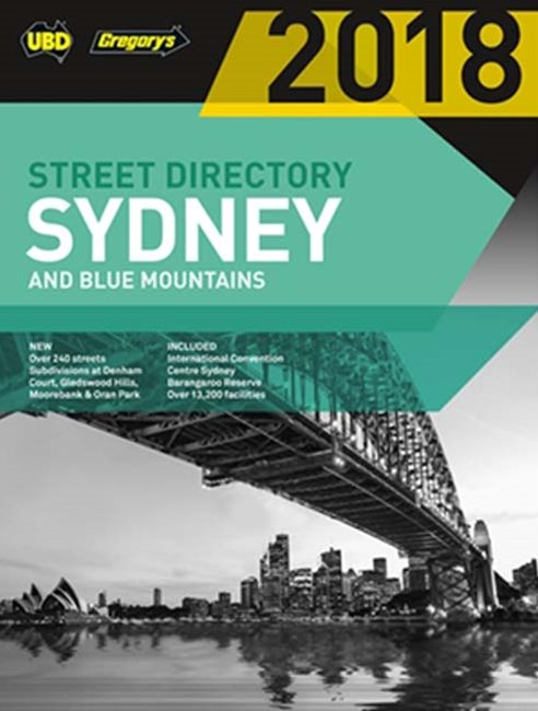 Sydney & Blue Mountains Street Directory 2018 54th