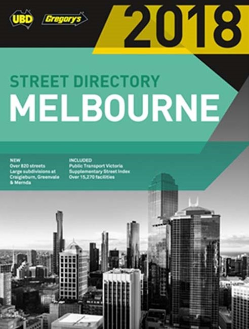 Melbourne Street Directory 2018 52nd